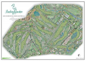 The completed master plan for the works at The Buckinghamshire GC