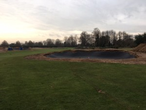 Blinder bunker liner is being used on all re designed and re constructed bunkers.