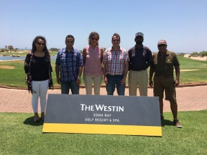 Tim Lobb with the design team at Soma Bay in Egypt to kick off new 18 hole design.
