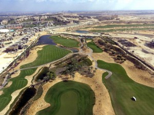 Some drone images of the finished NEWGIZA course.