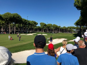 Watching Justin Rose playing into the 9th at Carya GC in Turkey.