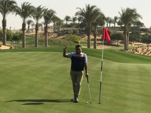 Director of Golf, Ali Mohamed had the first birdie - on the first hole at NEWGIZA