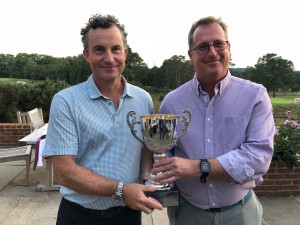 Neil White of AECOM wins the Thomson Cup on the mighty Red Course at The Berkshire Golf Club.