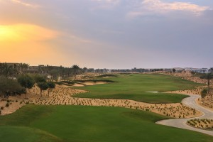 Perfectly conditioned playing conditions at NEWGIZA. Here is the 9th  hole.