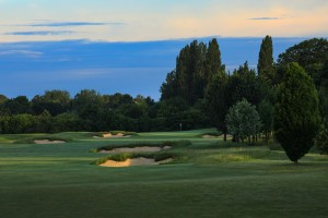 The gorgeous Oxfordshire countryside bordering the newly bunkered 4th hole.
