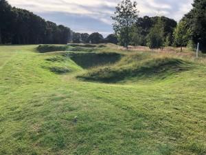 Park style 'pots' created on hole 16