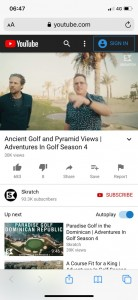 Thrilled to work with Erik Anders Lang for the Adventures in Golf episode in Cairo