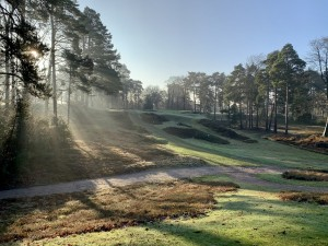 Heathland restoration works completed to holes 10, 11 and 12 at famed St George's Hill Golf Club.