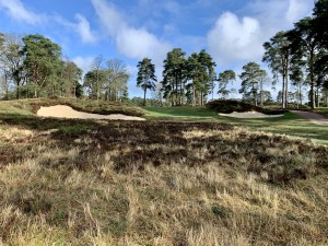 The newly re constructed 16th approach bunkers