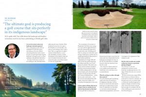 Feature interview in issue 60 of Golf Course Architecture with Tim Lobb