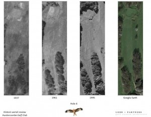 The in depth historical aerial analysis at Huntercombe GC completed.
