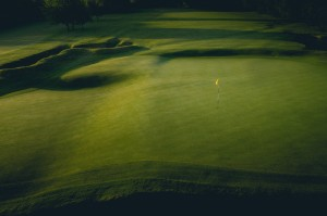 The unique and brilliant Park Junior contours on Huntercombe's 4th green. Photo by Jason Livy