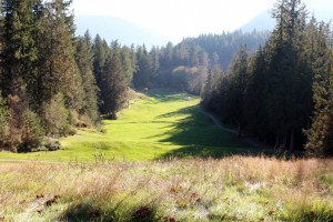 Pender Harbour Golf Club in British Columbia, Canada appoint LOBB + PARTNERS. The dramatic downhill second hole pictured.